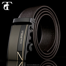 2015 soft brown automatic buckle mens leather belt with cheap price top quality