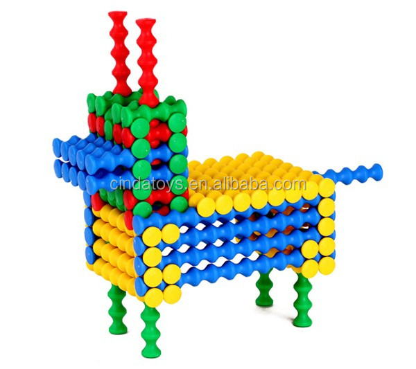 2018 Top Sale Bamboo shape Toys Blocks for Children Colorful Building Block Set Educational Block for Kids
