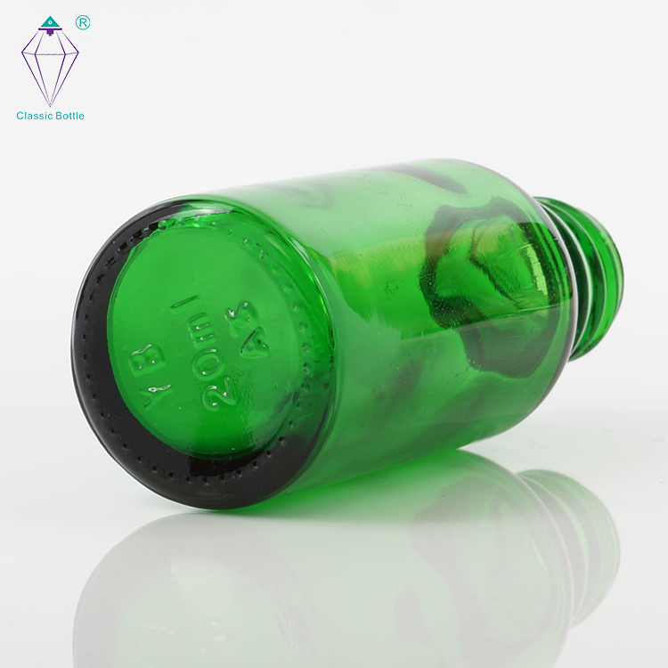 20ml green essential oil glass bottles with dropper cap