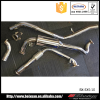 304 stainless steel catback exhaust system for landcruiser 80