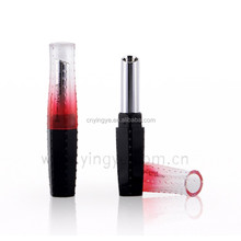Black and gradient red square lipstick tube