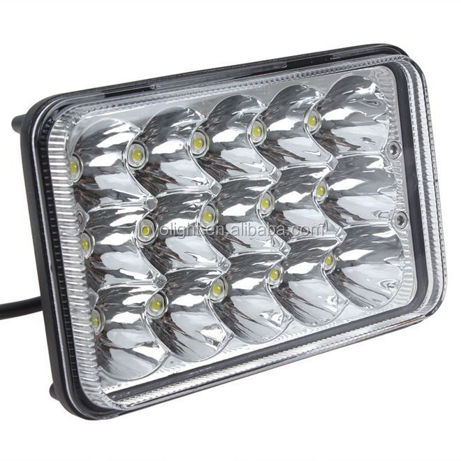 "Super bright 5"" inch 4x6 led headlights for excavator truck 4x4"