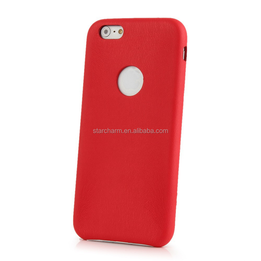 Protective Leather skin back pc hard case for iphone5/5s