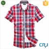 2015 cotton check fabric mens shirt manufacturers