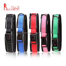 Reflective Adjustable Dog Collar With Quick Snap Plastic Buckle