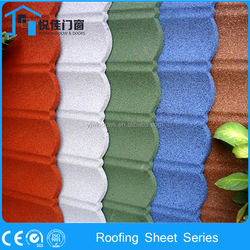 Chinese Antique design roof tiles shingles cheap metal color coated roofing sheet prices