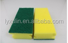 99.9%anti-bacterial effect sponge scouring pads for Houshold Cleaning Job