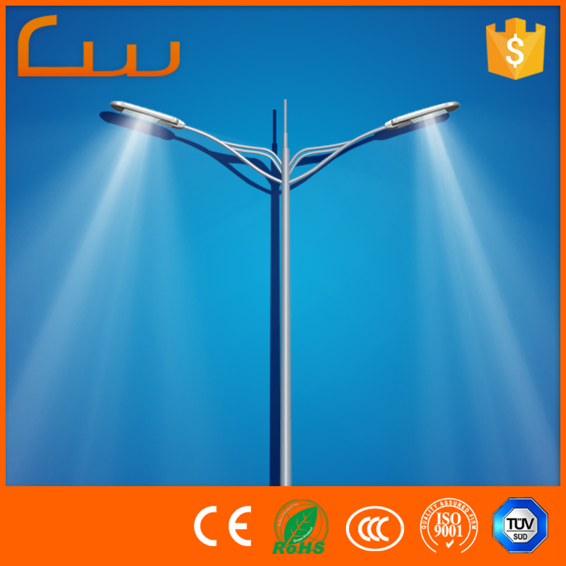 Manufacturer yangzhou Q235 pole customized power street LED light outdoor