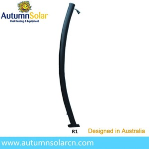 20L cold hot water optional plastic curved outdoor Solar Shower
