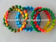 2014 favourate beauty silicone pearl bracelet custom silicone bangles