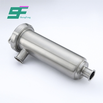 Low price promotional durable stainless steel sanitary angle filter