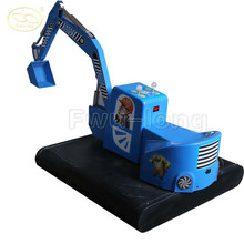 Battery operate coin operated video excavator toys