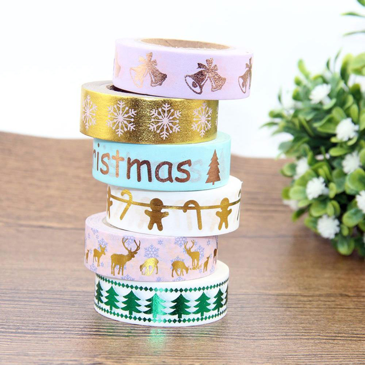 Christmas Washi Tape DIY Decoration Scrapbooking Masking Adhesive Tape