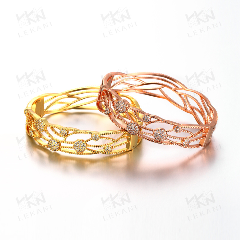 fashion 2015 new arrivals yellow gold plated 18K gold bracelet