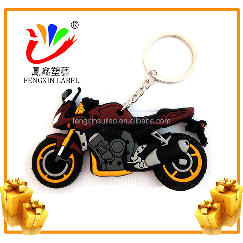 2017 rubber keychains motorcycle for custom