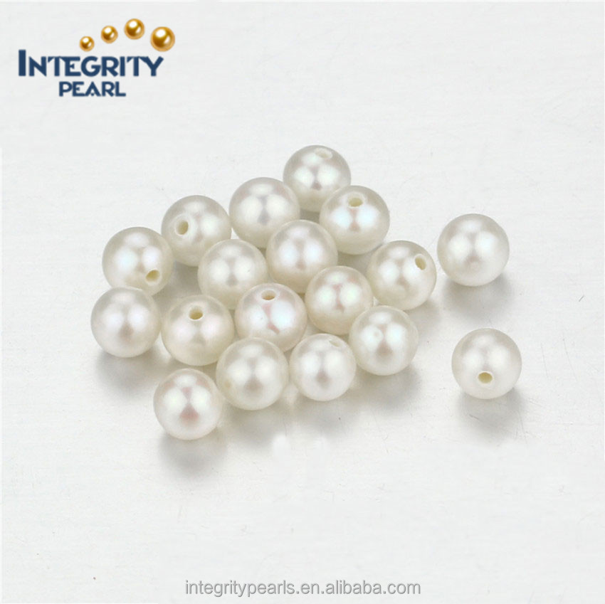 4-4.5mm AA+ round natural loose pearl beads, half drilled pearls, pearl beads no hole