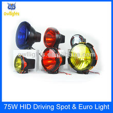 4wheel off road hid projector light,4x4 hid off road car accessories 9inch 55w 75w hid driving light