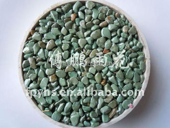 green ground oval chippings