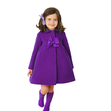 Quality Assurance Kids Winter Jackets Korean Girl Trench Coat Warm Children Woolen Winter Wear XZ3003