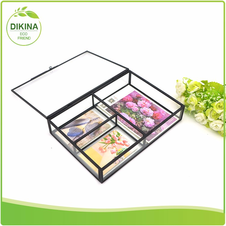 china home decor wholesale glass velvet jewelry cardboard brass silver display case / large luxury magnetic closure gift box