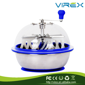 "VIREX Manufacturer Hydroponics 16""/19'' Spin Pro Bowl Silicone Leaf Bud Trimmer Cutter Trimming Machine"