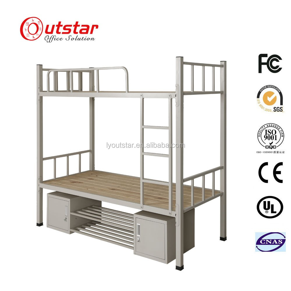 Exquisite KD Structure Metal Bunk Bed Designs With Under Box