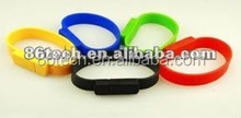 Fashion colorful silicone bracelet usb pen drive/usb flash drive/usb memory stick For Promotion
