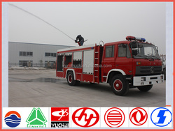 China famous brand dongfeng 153 Euro3 4*2 190hp water foam fire truck for sale in india