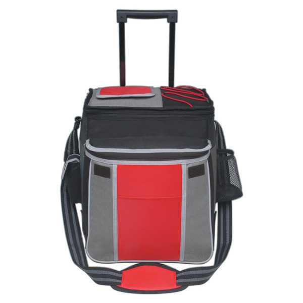 Adjusted Padded Shoulder Strap Mesh Pocket Insulated Coolers on Wheels