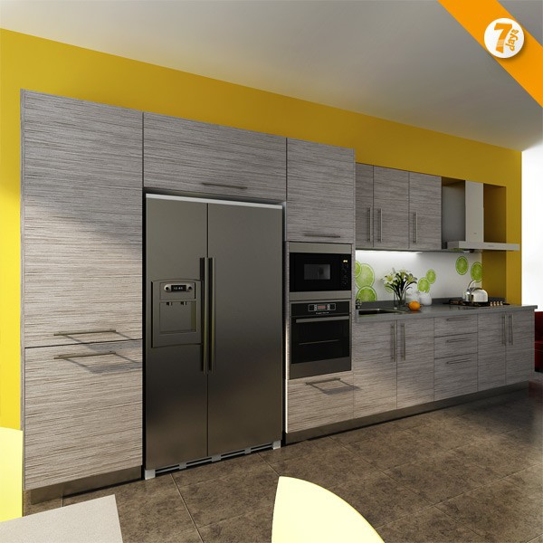 7 Days Delivery Blum Hardware Wood Grain Laminate kitchen cabinet
