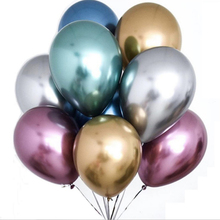 <strong>12</strong>'' 2.8g Metallic Latex Balloons for Wedding Supplies Festival Decorations Party Decorating Metallic Balloon