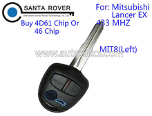 Keyless entry key for Mitsubishi Lancer EX 3 Button Remote Key Control Left 433Mhz (MIT8) No Chip