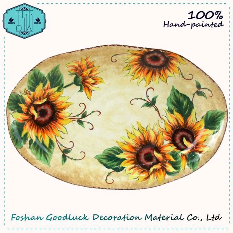Ceramic Flower Oval Shape How Much Are Personalised My Plate Plates