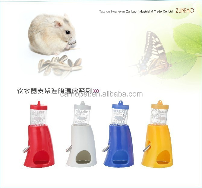 Pet Cat Dog Hamster Water Food Stand Deluxe Feeder Dish Raise Bowl Bottle Set