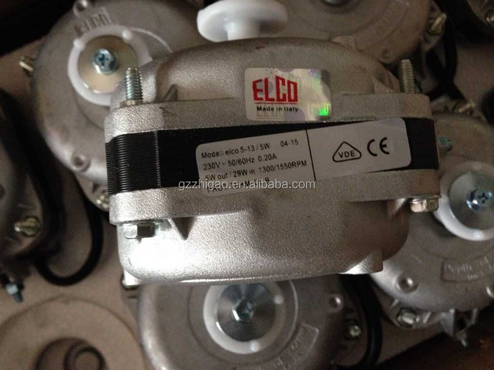 elco shaded fan motor 5/10/16/18/25W for condenser and evaporator