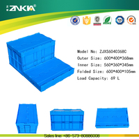 Heavy Duty Foldable Plastic Farm Crate for Agriculture