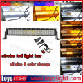 24 inch off road led atv light bar waterproof led light bar with two color changing