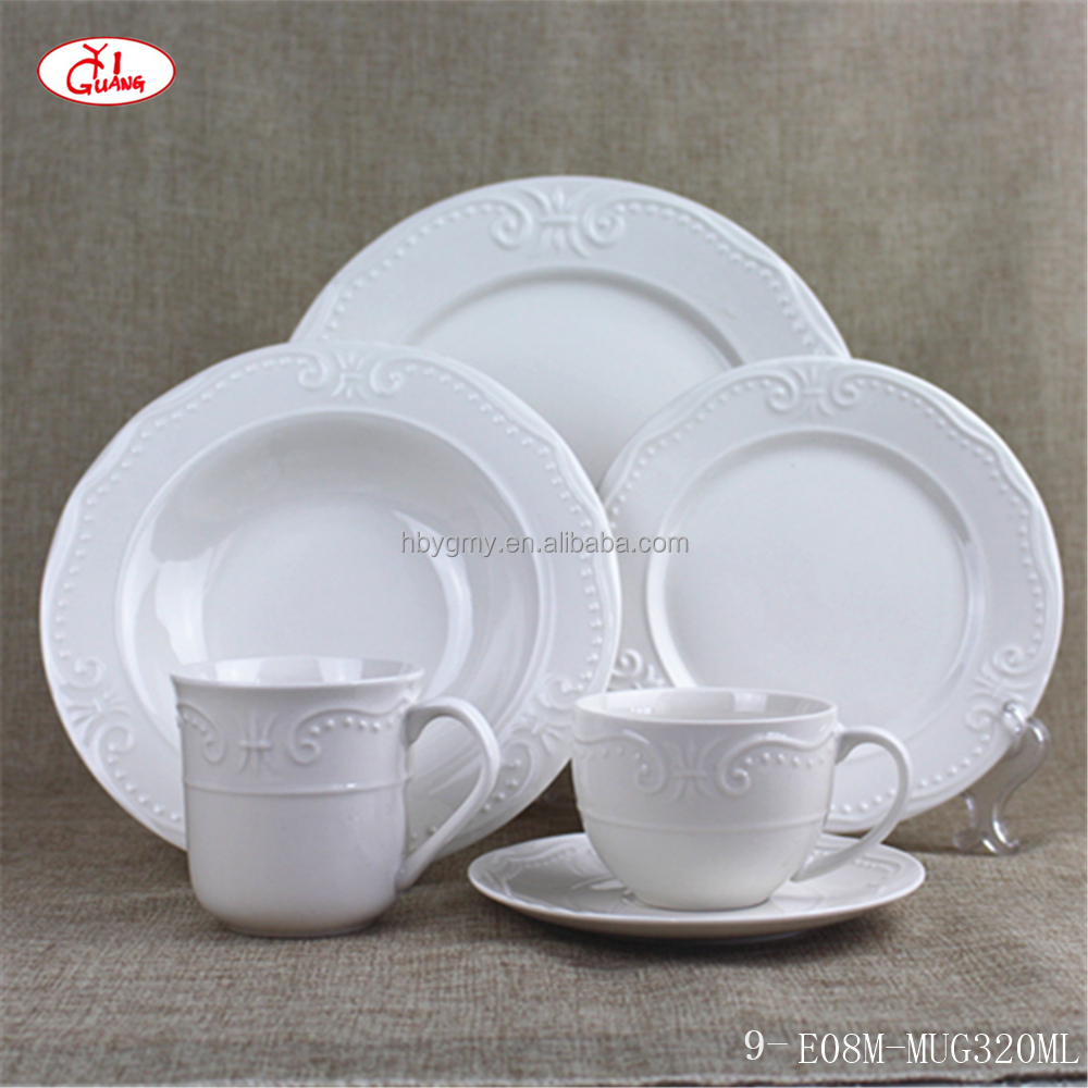 Normal round embossment dinnerware