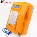 Top 1 supplier of  Industrial telephone KNTECHsp18 Mining Telephone Analog /voip Heavy Duty Telephone with LCD