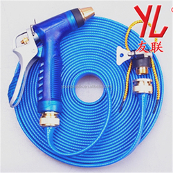 Fiber reinforced family use washing bag water flat car washing hose