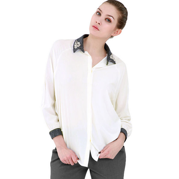 Fashion women's shirt karachi t shirt stock