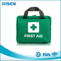 Green color private label good material medical first aid kit supplies 1st aid kit