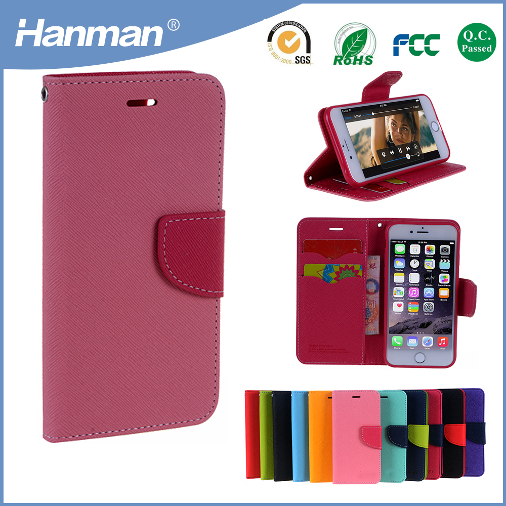 Best quality luxury design wallet leather smart phone cover for iphone 6s cover