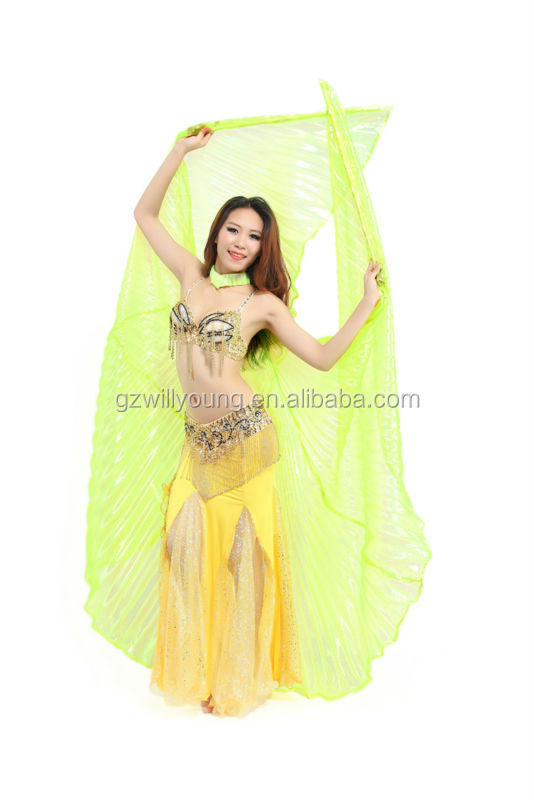 New Color High Quality Belly Dance Isis Wings for Women Hot Sale Lame Wings around 145cm long