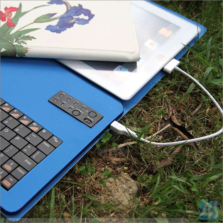 For iPad 2/3/4 Wireless Keyboard & Slim Leather Case with Inner Battery P-BLUETOOTHKB034