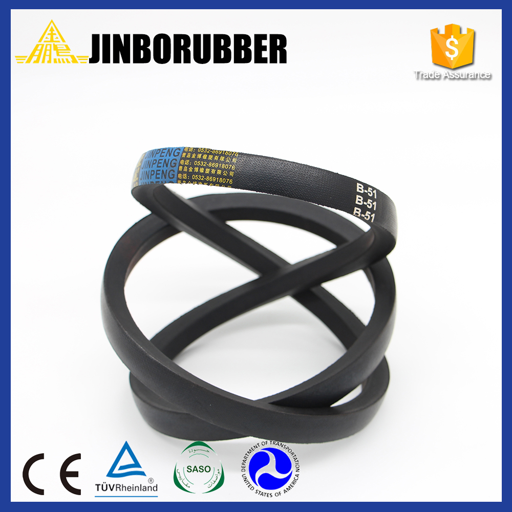 Hot selling pu leather Wrapped rubber banded v belt for industrial use With ISO9001 Certificate