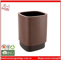 square shape paper bin with meatl cover and plastic bin Trash Can Mini Snake Garbage Can and Mini Rubbish Bin Storage Bucket fo