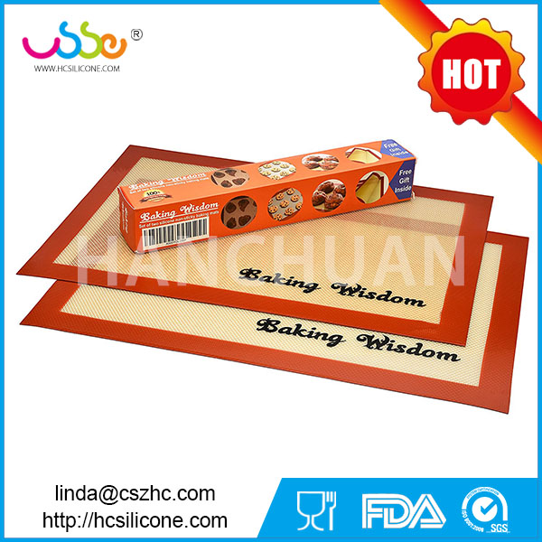 Non stick colorful kitchen heated cooking oem custom new design fda wholesale silpat silicone baking mat