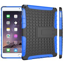 For Apple iPad 6 / iPad air 2, New Shockproof Protective Rugged Rubber Silicone PC Tablet Case