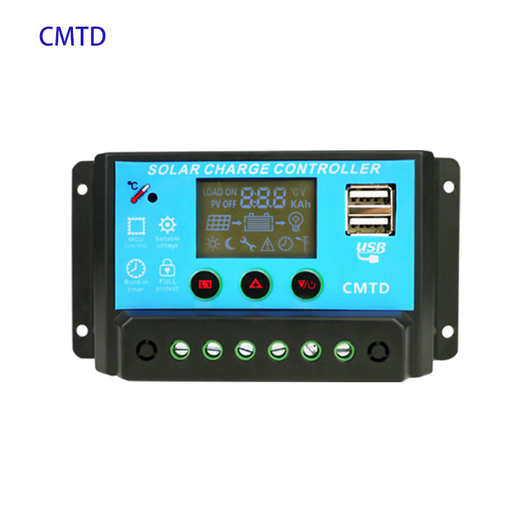 CMTD Dual USB 10A Manual Pwm Solar Charge controller 12V/24V Paremeter Adjustable LCD cmtd 20a 30a circuit diagram